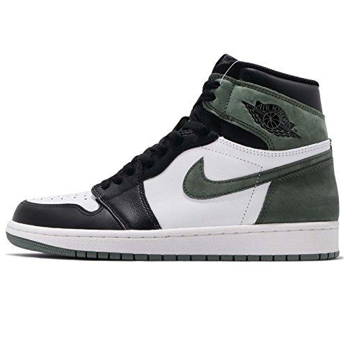 Nike Air Jordan 1 Retro High Og - summit white/clay green-black - Basketball-Schuhe-Herren, Größe:8
