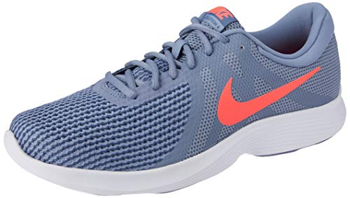 Nike Revolution 4 EU, Scarpe da Fitness Unisex-Adulto, Multicolore (Ashen Slate/Flash Crimson/Diffused Blue 464), 44