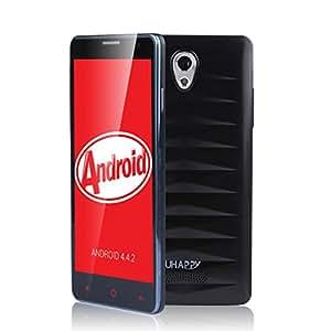 UHAPPY UP520 Supper Smartphone débloqué 5 pouces écran ultra mince 3G Android 4.4 MTK6582 Quad-Core Double SIM carte 1MB & 8GB Double Caméra 8.0MP & 5.0MP, GPS, WIFI - Noir