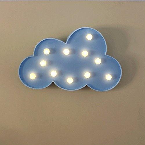 Nhsunray led luce notte romantica lampada da tavolo battery-powered light for decorazioni di natale home or party decor, bedroom, children (le nuvole)