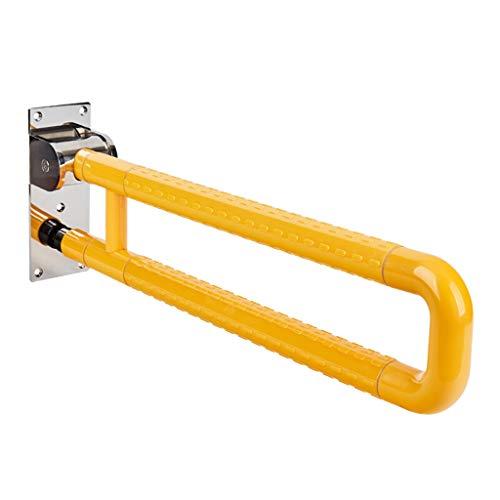 Haltegriff Flip-Up Badezimmer Sicherheit, Faltbare Toilettenstütze, Rutschfestigkeit Handicap-Rahmen, für Home Hotel Behindertenhilfe Schwangere Ältere U-Form Schiene (2 Stile)