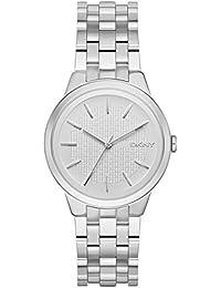 DKNY Damen-Armbanduhr Analog Quarz Edelstahl NY2381