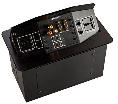 celexon Expert Tischanschlussfeld TA-300B_INT, Ordnung auf und unter dem Konferenztisch, Internationale Steckdosenvariante