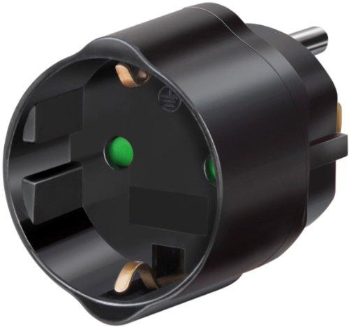 Produktbild Brennenstuhl Reisestecker / Reiseadapter (Reise-Steckdosenadapter für: USA Steckdose und Euro Stecker) Farbe: schwarz