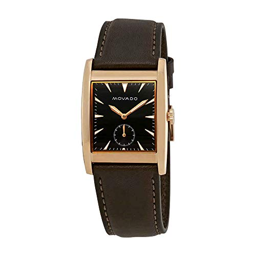 Movado Men's Heritage Brown Leather Band Steel Case Swiss Quartz Watch 3650042