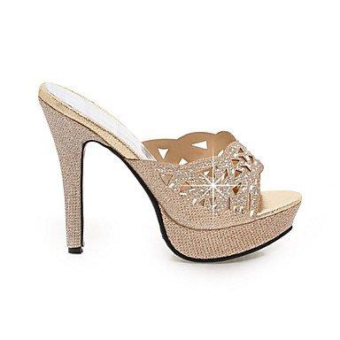 LvYuan Damen-Sandalen-Hochzeit Büro Kleid Lässig Party & Festivität-Glanz maßgeschneiderte Werkstoffe-Stöckelabsatz-Komfort Club-Schuhe-Gold Gold