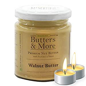 Butters & More Vegan Natural Walnut Butter (200G) Unsweetened. Keto & Diabetic Friendly. with a Surprise Diwali Gift!