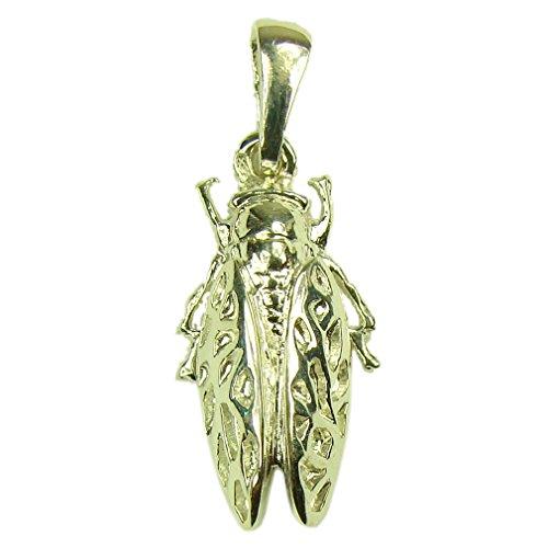 Souvenirs de France - Pendentif Cigale de Provence - Matériau : Argent Plein, Plaqué Or ou Or Plein 18-Carats