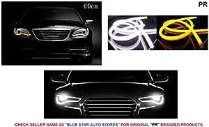 PR 60cm Audi Style Flexible Daytime DRL+Indicator Set Of 2-Maruti WagonR Type 3 (2008-2012)