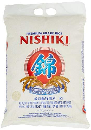 NISHIKI Rice (Medium Grain), 1er Pack (1 X 10000 g) Medium Grain