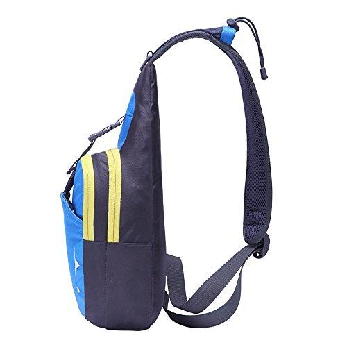 FFZH Petto di sacchetto di nylon impermeabile per uomini e donne, sport all'aria aperta e per il tempo libero pacchetti petto Pack , orange blue