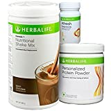 Herbalife Nutrition Weight Loss Package Formula 1 (Chocolate)+ Personalized Protein Powder + Afresh , Lemon