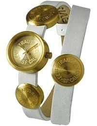 Levis L004GIGGRW - Reloj analógico de mujer de cuarzo con correa de piel blanca