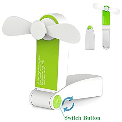 Jhua Personal Fans Handheld Fan Mini USB Desk Fan Portable Travel Fans Rechargeable Pocket Fans for Home, Travel-2 Speeds