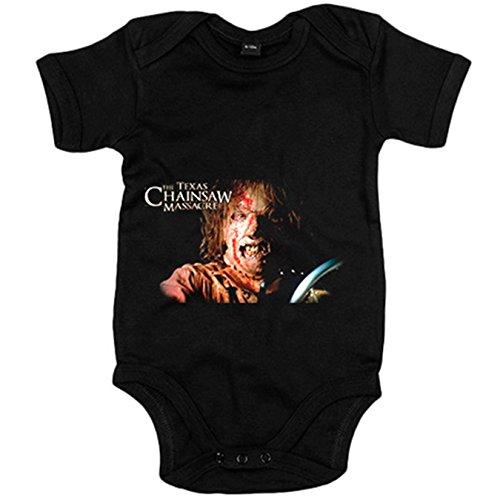 Body bebé La Matanza de Texas película - Negro, 6-12 meses