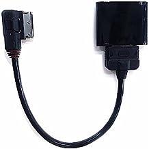 Audi VW Bluetooth 4.1 Kit de coche, Interfaz de audio inalámbrica AMI MDI receptor de música MP3 adaptador con 30 pines iPod AUX para Audi, A3, A4, A5, A6, ...