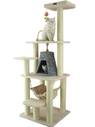 Armarkat Kratzbaum AC6501V mit Aufsichtsplattform und Katzenhöhle sehr stabil