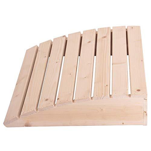 Envisioni Kopfstützen aus Holz, Gebogene Sauna-Kissen, beruhigende Holzkissen für Badezimmer, Saunen, Schlafzimmer