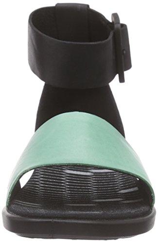 Ecco ECCO TILDA, Sandales Bride cheville fille Noir/Vert (GRANITE GREEN/BLACK59751)