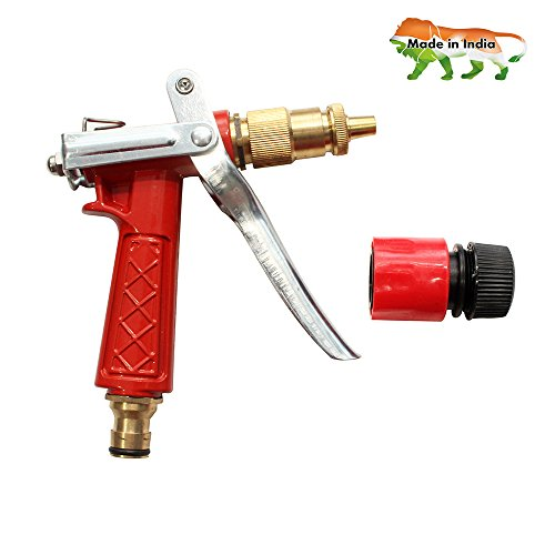 """AquaHose High Pressure Metal Spray Gun With Connector For Floor Care Red - 1/2"""" ( 12.5 Mm ) Bore Size Hose"""