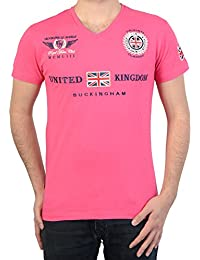 Camiseta Geográfica Noruega Jacroche Hombres de las SS Assor 100 Flash de color Rosa