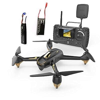 Hubsan JYZ drone H501S x4 Pro 5.8G FPV Quadcopter 10 Plus Channels Headless Mode GPS RTF Drone with 3M Pixels Camera(Advanced Version) Black