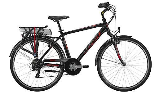 ATALA Bici elettrica 2019 E-Run FS 28 da Uomo, Misura Unica 49, 6 velocità, Colore Nero-Rosso