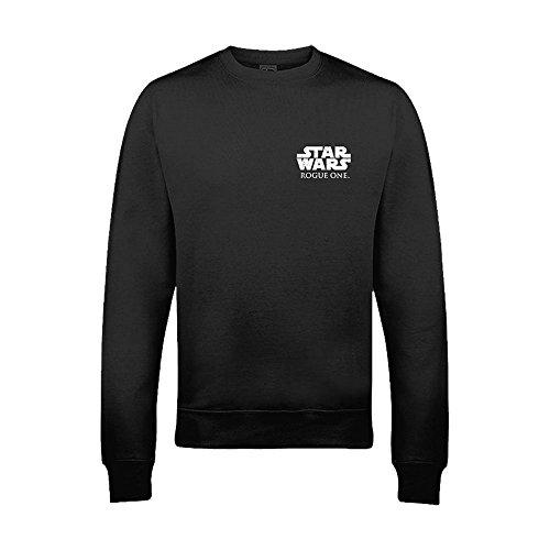 Star wars rogue one official - felpa nera ufficiale con logo piccolo - adulti/unisex (xxl) (nero)