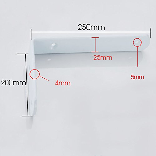 Staffa per mensola in metallo montata a parete supporto per mensola triangolare in metallo staffa per supporto angolare supporto per staffa staffa per fissaggio a parete (dimensioni : 250*200mm)