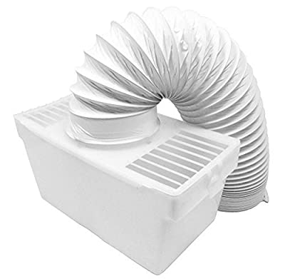 "Spares2go Universal Condenser Vent Box & Hose Kit for all Vented Tumble Dryers (4"" / 100mm)"