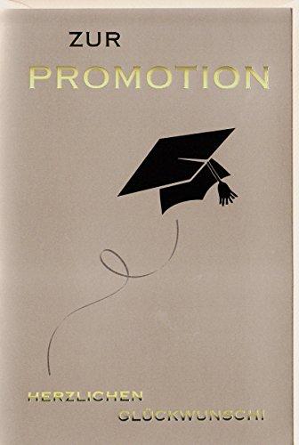 Glückwunschkarte zur Promotion edel Doktorhut Goldschrift