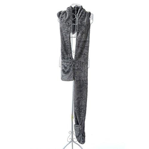 Automne Long Et D'hiver En Laine Tricotés Adultes Et Enfants épais Gants Chauds, écharpes Chapeau gray