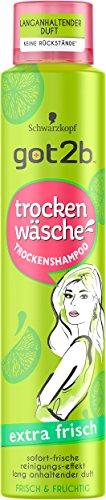 Schwarzkopf Got2b Trockenwäsche Trockenshampoo, Extra Frisch, 3er Pack (3 x 200 ml)