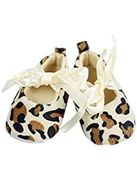Zapatos - TOOGOO(R)Zapatos suaves de caminar de patron de leopardo para bebe recien nacido(12-18 meses)