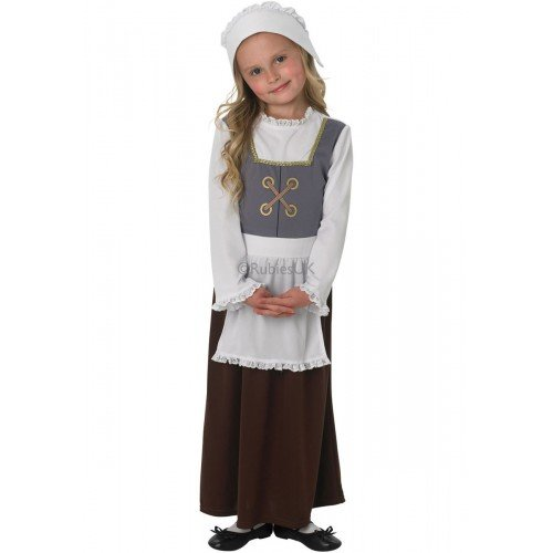 Girls Poor Tudor Victorian Historical Book Day School Fancy Dress Costume Outfit