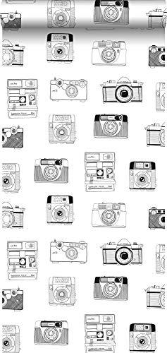 Tapete Polaroid Kameras Schwarz und Weiß - 138843 - von ESTAhome.nl