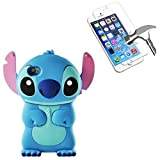 HQ-CLOUD Coque Housse Etui en Silicone Pour Iphone 6 / 6S - Lilo & Stitch - Bleu + 1...