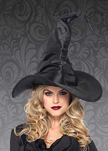 Magic Box Int. Deluxe Halloween Schwarz Geraffte TAFT Hexe Hut -