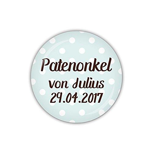 mm Ø DOTS blau, Patenonkel personalisiert (Art. PBU261) ()