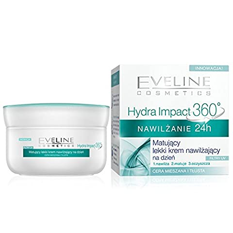 EVELINE Cosmetics Hydra Impact Mattifying Day Cream 24h Deep Hydration Combination and Oily Skin