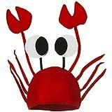 toyobuy Halloween disfraz de Navidad Boll 3d fieltro cangrejo cabeza gorro rojo