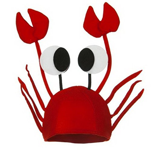 Toyobuy Spiel Karneval Halloween Krabbe Form Hut Lobster Hut Kostüm Hochrot
