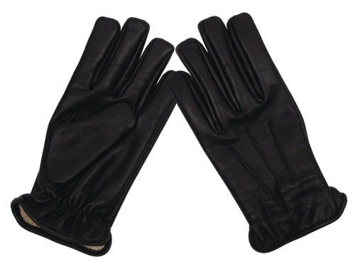 MFH Lederhandschuhe, schwarz, mit schnitthemmend.KEVLAR(R)-Einl. - M