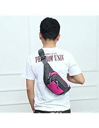 Fashion Multi-function Men Outdoor Sports Running Adjustable Breathable Waist Bag (Magenta)