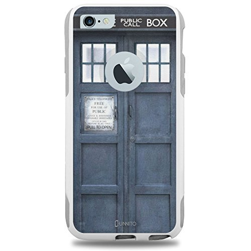 unnito TM iPhone 6 Fall, unnitotm [Dual Layer] * 1 Jahr Garantie * Schutz Hülle [Custom] Commuter Cover Schutz, Tardis Dr Who (Who Fall Iphone Dr 6)