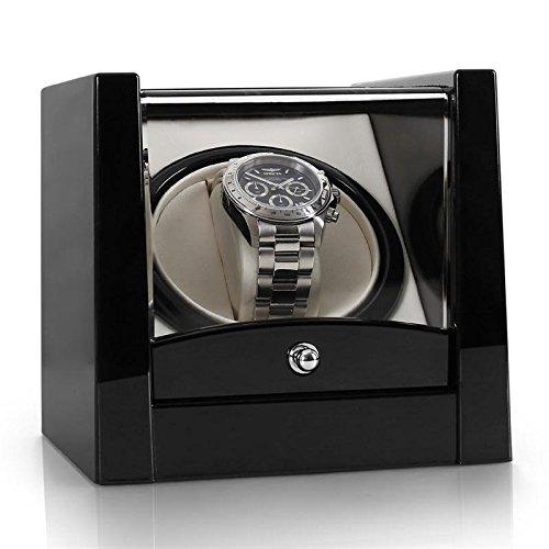 Klarstein 8PT1S caja para relojes (compacto, amplia ventana transparente, movimiento rotativo, motor silencioso) -