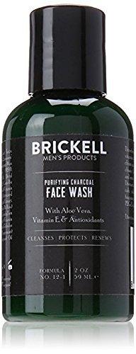 Brickell Men's Products Reinigung von Holzkohle Gesicht zu waschen - Natur- und Bio Gesichtsreiniger - 2 oz - 2 Unzen-flasche Gel