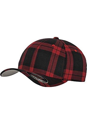 Flexfit - Casquette tartan noir rouge - multicolore, S / M