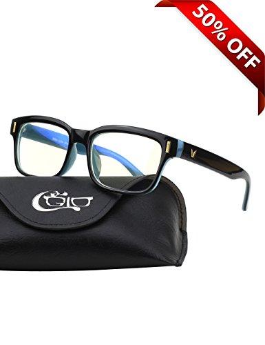 CGID CT84 Gafas para Protección contra Luz Azul, para Computadora, Lectura, Video...