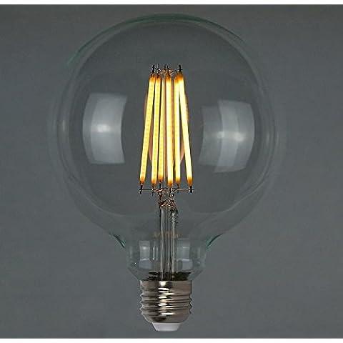 Luce Edison LED dimmerabili Vintage 6W (60w) - Giant Globe Squirrel Cage 125 millimetri E26 E27 B22- Il Retro Classe energetica A ++